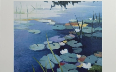 Tadashi Asoma, Water Lilies, Poster on board