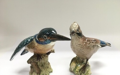 Two Beswick figures of birds comprising a Kingfisher 2371 an...