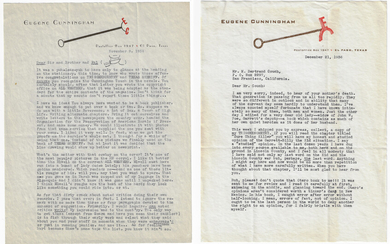 Two Important Letters From Eugene Cunningham