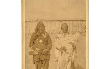 1881 Cabinet Card Photo of Two Blackfoot Chiefs