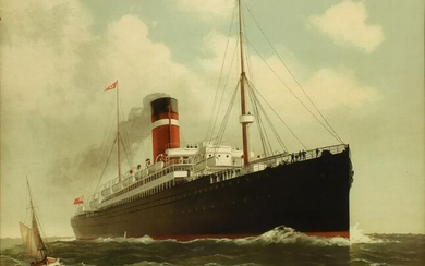A DOMINION LINE STEAMSHIPS ADVERTISING PRINT