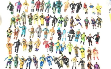 A Large Collection of Vintage G.I Joe Action Force Figures w...