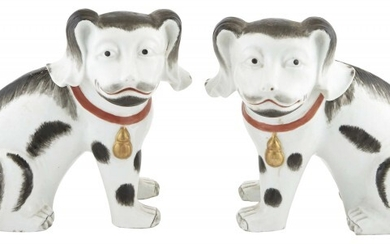 A Pair of Chinese Export Porcelain Dogs