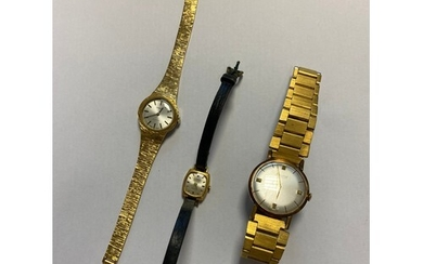A gent's Accurist wristwatch, together with a lady's Tissot ...