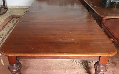 A good 19th Century Mahogany D end two leaf Dining Table. Ci...