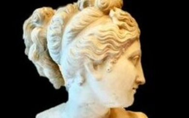 AFTER ANTONIO CANOVA A FINE MARBLE CARVED FIGURE OF