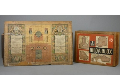 An early 20th Century German made set of child's building bl...