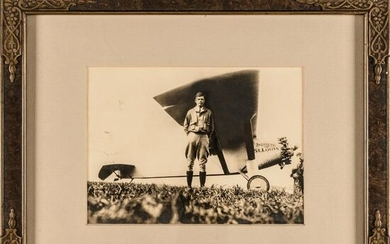 Charles Lindbergh With Spirit of St. Louis Photo