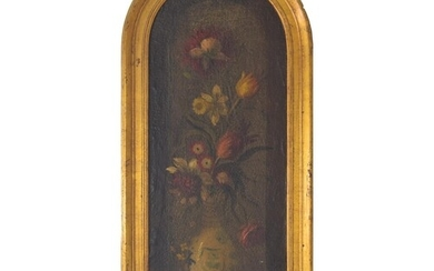 Continental School (19th century) - still life of flowers in...