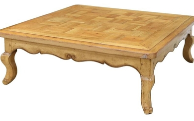 FRENCH COUNTRY STYLE FRUITWOOD COFFEE TABLE