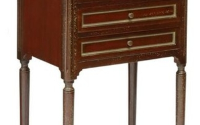 FRENCH LOUIS XVI STYLE MARBLE-TOP NIGHTSTAND