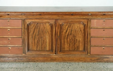 LATE 19TH C. MAHOGANY OFFICE/FILE CABINET