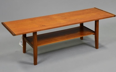 Mid Century Modern Coffee table with a Shelf