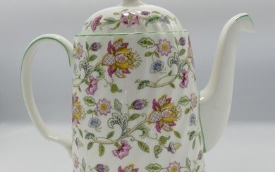 Minton Haddon Hall patterned coffee set to include: 2 x sand...