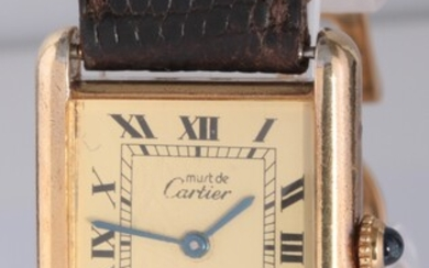 Must de Cartier Tank Gold plated and sterling silver
