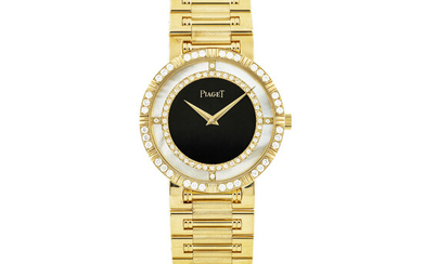 PIAGET, GOLD, DIAMOND-SET, MOTHER-OF-PEARL AND ONYX