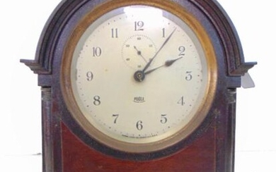 Poole Electric (Battery) Wood Beehive Clock, tested and