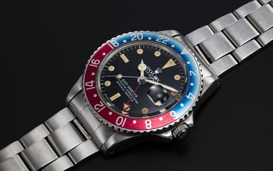 "ROLEX, A STEEL OYSTER PERPETUAL GMT-MASTER ""RED ARROW"", REF. 1675"