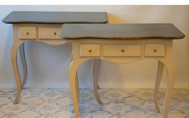 SIDE TABLES BY CHELSEA DESIGN CO, a pair, French Louis XV st...
