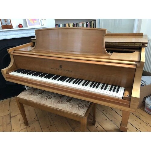 Steinway (c1968) A 6ft New York Model L grand piano in a Fre...