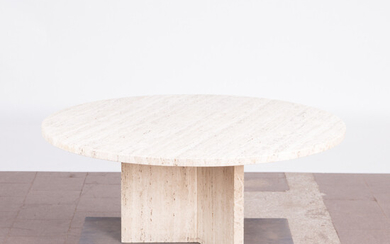 Table / coffee table, travertine, Italy, 1970s.