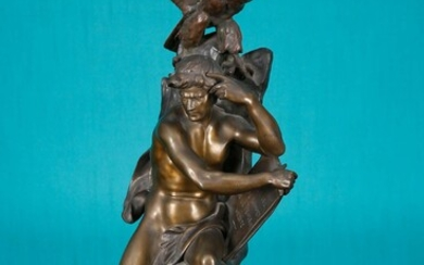 """The Thinker Brown patina bronze signed, titled and stamped """"BD..."""