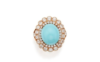 Turquoise and Diamond Ring, France, Van Cleef & Arpels