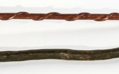 Two Carved Folk Art Canes