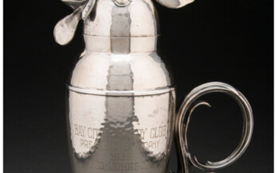 Wallace Bros. Silver Company, Rooster-Form Cocktail Shaker (circa 1928)