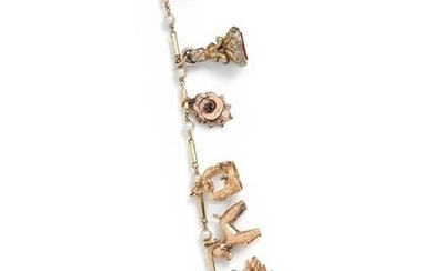 YELLOW GOLD AND GOLD-FILLED CHARM BRACELET