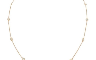 14 kt. Pink gold - Necklace - 0.70 ct Diamond