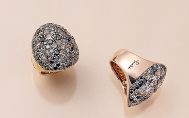 18 kt gold Pomellato ring with diamonds ,...