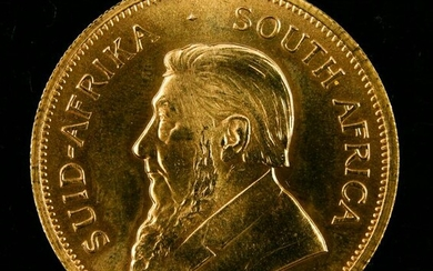 A 1977 South African Krugerrand 1oz gold coin