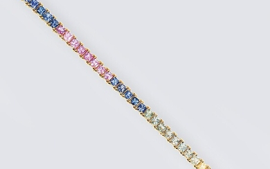 A Bracelet with multicoloured Sapphires.