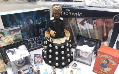 A Collection of Doctor Who. Star Wars. Tin Tin figures and m...