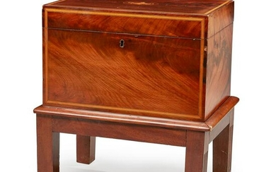 A LATE VICTORIAN MAHOGANY AND SATINWOOD CROSSBANDED