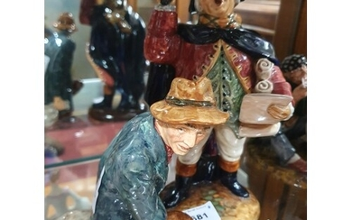 A Royal Doulton Figure of The Town Cryer (HN2119) and The Wa...
