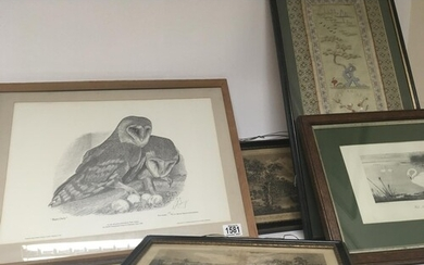 A collection of prints and pictures including early 19th cen...