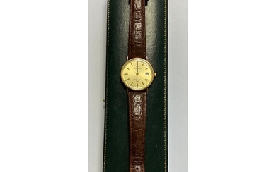 A gent's 'Sovereign' gold cased wristwatch