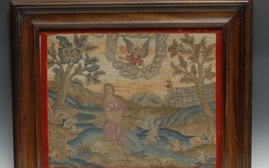 A late 17th/early 18th century needlework picture, embroider...