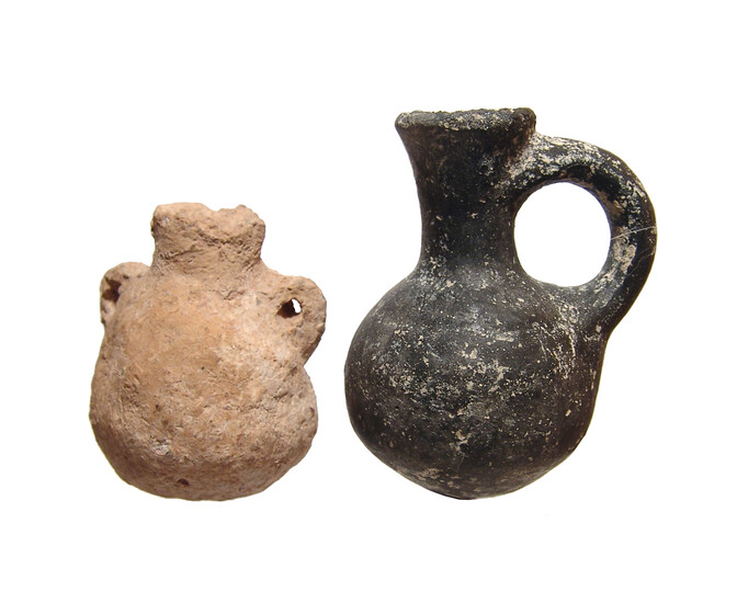 A pair of ceramic vessels from the Holy Land