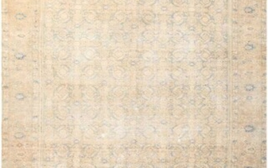ANTIQUE PERSIAN SHABBY CHIC MALAYER CARPET. 16 ft x 9 ft 6 in (4.88 m x 2.9 m).