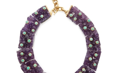 Amethyst and Turquoise Necklace, Tony Duquette