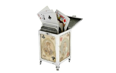 An Edwardian sterling silver playing card case