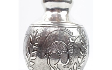 An Egyptian-style vase chased with classical-style animals. ...