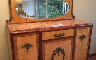 Art Deco sideboard with mirror upstand
