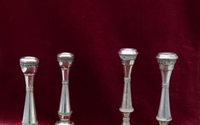 Candlestick (2) - .925 silver - Israel - Second half 20th century