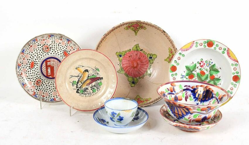 Group of Eight Assorted Porcelain Table Articles