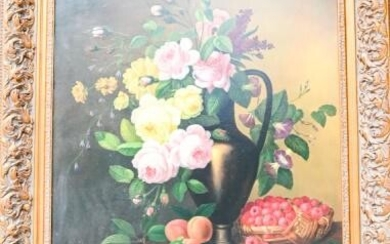 Lawrence Backer Still Life Painting with Fruit