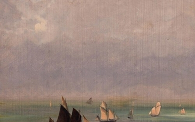 Louis-Nicolas Cabat (1812-1893) French. A Shipping Scene in ...